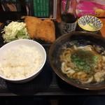 KASUYA - H.31.2.13.昼 あじフライランチ 780円税込+TP昆布 100円税込
