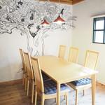 Tradgras Cafe 薬膳イタリアン×薬酒 - 6名様用のお席です。(半個室とすることもできます)