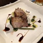 かんじ - 料理写真:豚バラ肉塩麹焼き