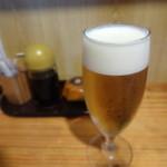 鮮魚料理 伊勢屋 - 生ビールグラス(アサヒ)