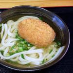 いわのや - 料理写真:コロッケうどん(かけうどん+肉コロッケ)