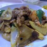 中華大千居 - 牛肉スライスのカキ油炒めセット