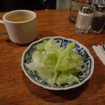 10523077 - ランチに付くサラダ&スープ