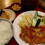うえむら - 豚生姜焼き定食(850円)