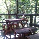瀧茶屋 - 夏の間は特等席!? テラス席は限定2テーブル(2011/9)
