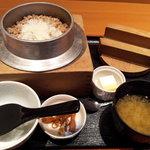 銀の蔵 - 味噌汁とデザート付き