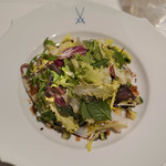 レストラン アラジン - ヤリイカズッキーニタンポポのサラダ