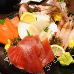 旬の海鮮 シーマーケット札幌 - 二品目「刺身5点盛」
