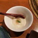 生粋 - お通し:生豆腐ジュレかけ