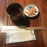 草庵 - 蕎麦茶とかりんとう