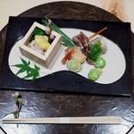 個室割烹 寿司北大路 - 前菜から春らしい旬の食材がいっぱい