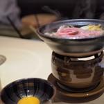 個室割烹 寿司北大路 - 山形牛のすき焼き
