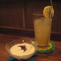 ゴリラ食堂 - 手作り豆乳ヨーグルト:380円、自家製ジンジャーエール:500円