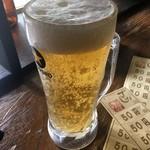 でかんしょ - 「生ビール」300円也。