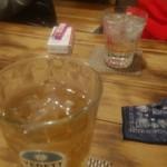 酒菜楽 - ジンジャーエール、芋焼酎水割り