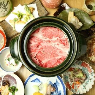 奈良県の食材をふんだんに使用した四季を感じるお料理