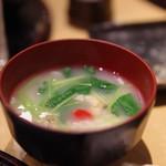 天ぷらと日本酒 明日源 - アサリ雑炊