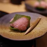 天ぷらと日本酒 明日源 - 桜餅