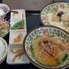 美味 - 料理写真:海鮮豆腐定食+半台湾豚骨ラーメン