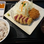 gyuukatsutonkatsujojokichi - 牛かつランチ(税込1,101円)
