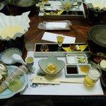 10529252 - 食前酒・先付・前菜・鍋・熊野牛の石焼