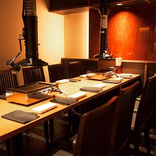 【個室】完全個室は4~16名様◆おしゃれ空間で愉しむ黒毛牛♪