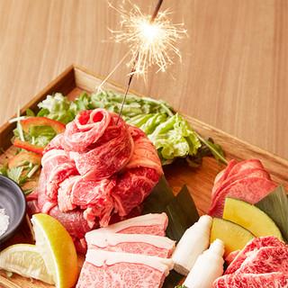 お祝いにサプライズ♪肉パフェor肉ケーキをプレゼント★