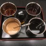 Tonshahinabeandomaratan - 卓上薬味5種