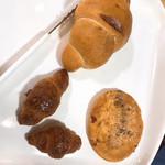 さんとのれ - 料理写真:ハーフチーズフランス、ミニクロ、丸いのはチーズなんとか(忘れてしまった