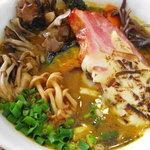スープカレー plus one - [NEW]秋の味覚5種のキノコのスープカレー+厚切りベーコン&炙りチーズ(アップ)