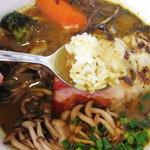 スープカレー plus one - スープに浸していただきます❤