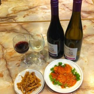 ソムリエさんに選んで頂いた、菜来軒の中華料理に合ったワイン味見セット!990円