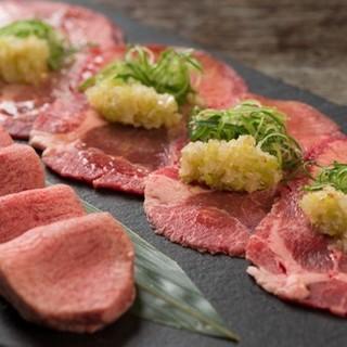 肉の旨みと白ネギの風味が香る、鹿六名物「特選ネギタン塩」