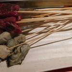 神楽食堂 串家物語 - 衣をつける前の串
