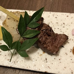 105304797 - A4山形牛の串焼き。                       美味し。