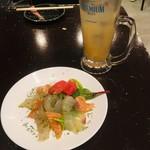 105306304 - 魚介マリネ(目鯛とサーモンのバジル風味)/グレープフルーツサワー