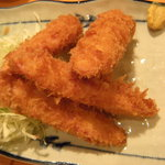 マゴコロ - 魚肉ソーセージフライ(340円)