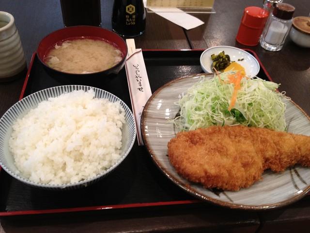 とん平 - ロースカツ定食(1500円)