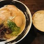 本格豚骨ラーメン 恵壱 - 料理写真:白とん ¥750 + 味玉 ¥100 + ごはん(並)¥120