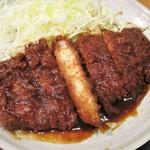 105316256 - 味噌ロースカツ膳 820円(税込)ご飯 大盛り(無料)。