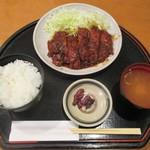 105316261 - 味噌チキンカツ膳 770円(税込)。