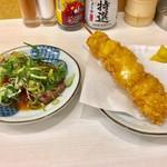 串屋横丁 - 牛サーロイン串、義理の親子のジャンボ鶏カツ ジャンボ串!180円