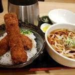 105318150 - 醤油カツ丼+うどん