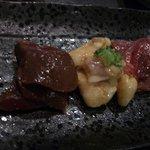 焼肉 蔵人 - ホルモン3種盛り