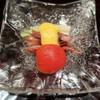 森本 - 料理写真:蛍烏賊、うるい、フルーツトマト、辛子酢味噌添え
