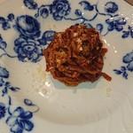 105325154 - 本日のパスタ(トマトソースのスパゲティ)