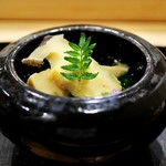 あま木 - 鮑・筍・あおさの茶碗蒸し