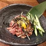 大衆焼肉 味樹園 - 和牛ユッケ風レアステーキ ¥890