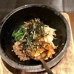 大衆焼肉 味樹園 - 石焼ビビンバ ¥690