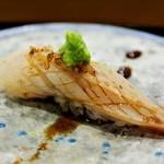 あま木 - 本みる貝炙り+山葵+つめ
